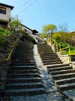 Ohrid old town stairs- Охрид Стар град скалила